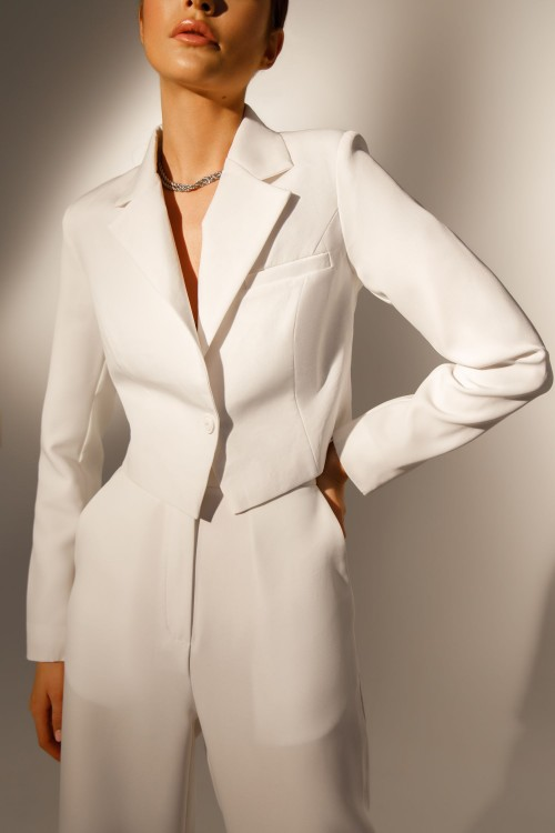 Short jacket (white)
