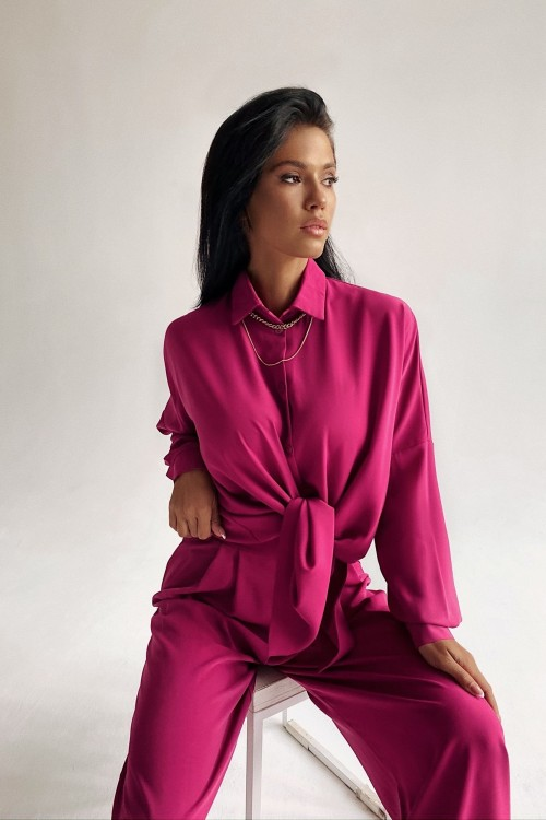 Straight blouse (pink)