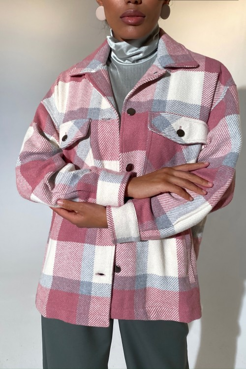 Plaid shirt (pink)