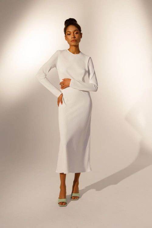 Sheath dress (white)