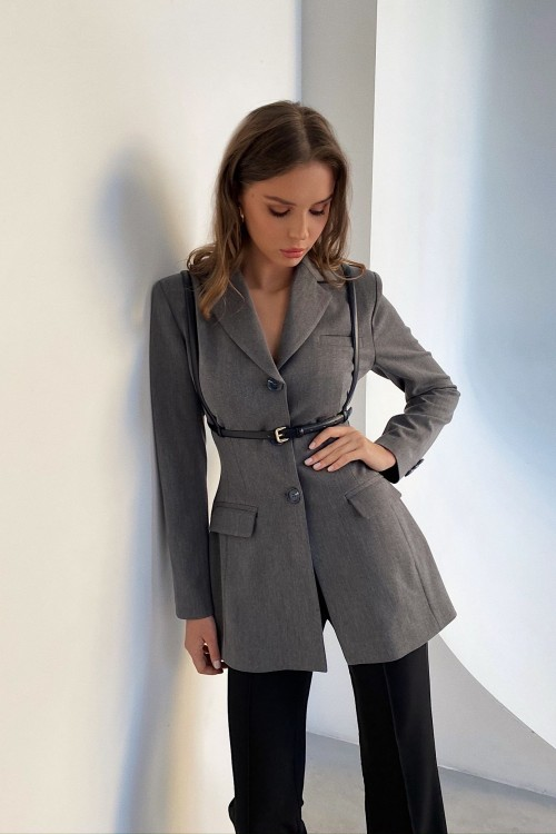 Figure modeling jacket (grey)