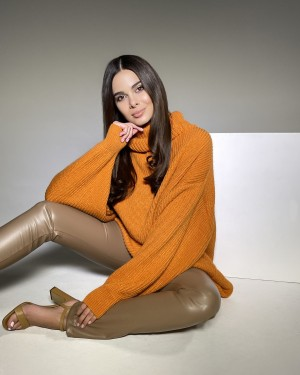Eco leather pants (beige)