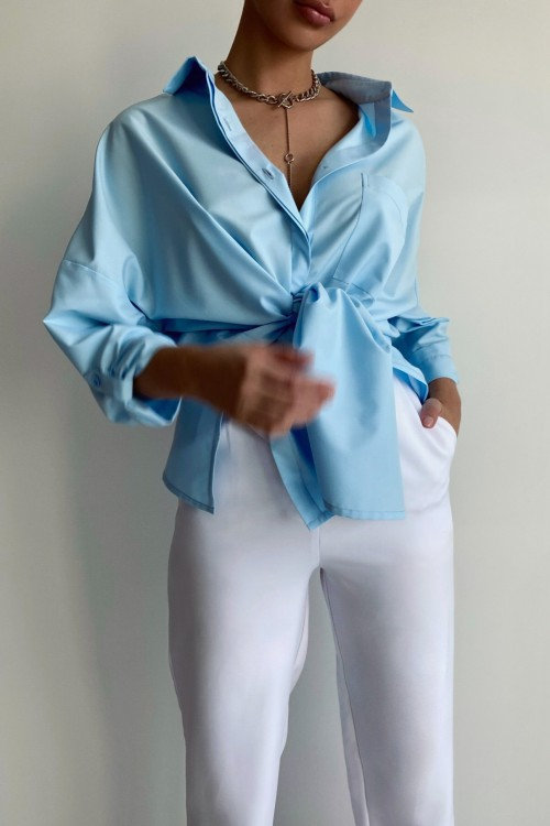 Oversize shirt (light blue)
