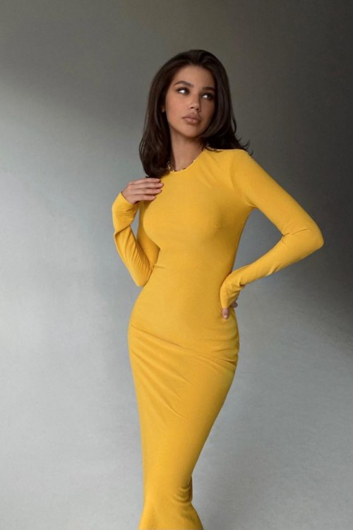 Sheath dress( mustard)