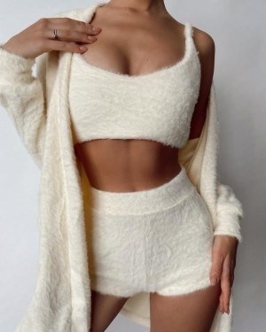 Set ( top, shorts and cardigan) (white)
