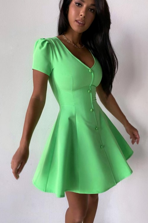 "Mini ""Paris"" dress (green)"