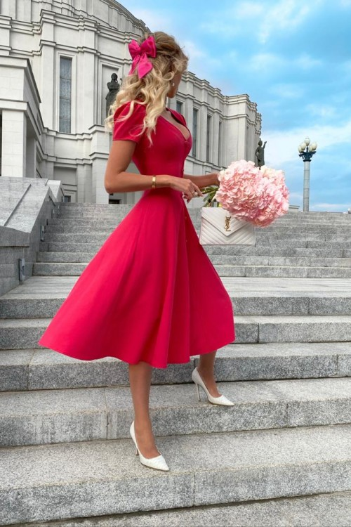 "Midi ""Paris"" dress (pink)"