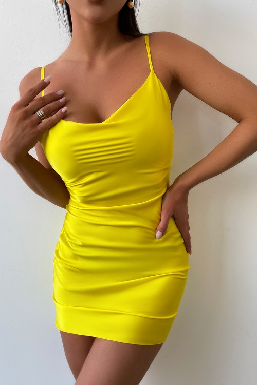 Mini Slip dress (yellow)