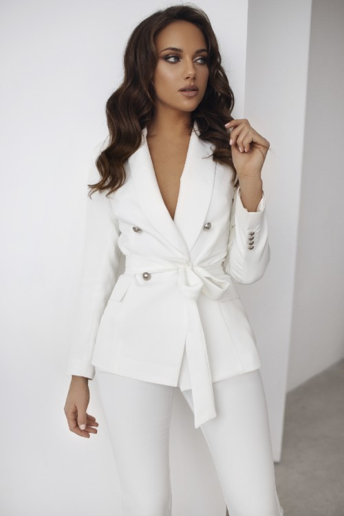 Double-breasted jacket (white)