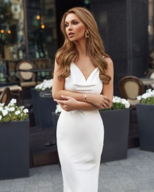 Maxi Slip dress (white)