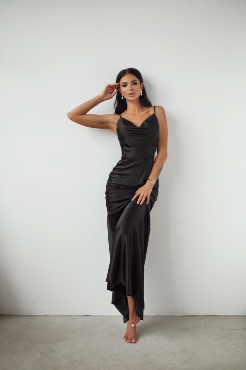 Maxi Slip dress (black)