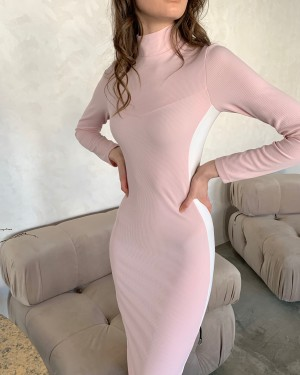 Dress with stripes (pink)