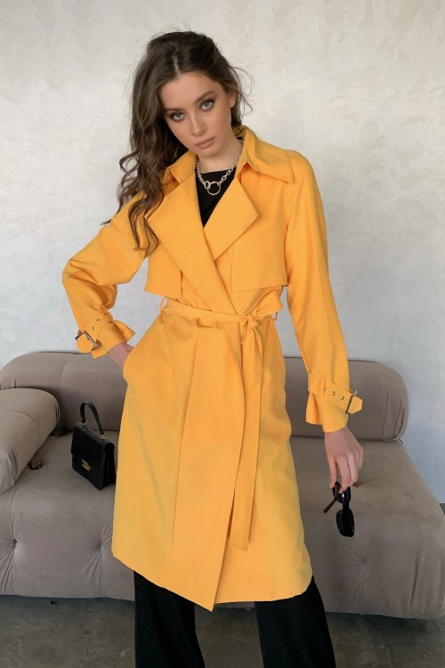 Cotton trench coat (mango)