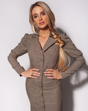 Linen jacket-dress (khaki)