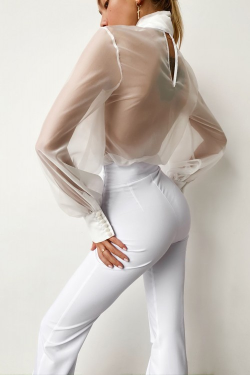 High waist pants (white)