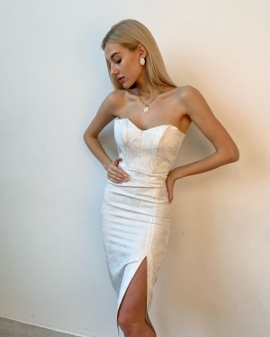 Bustier silver dress (white)