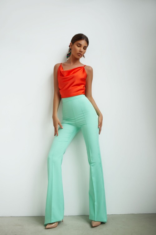 High waist pants (turquoise)