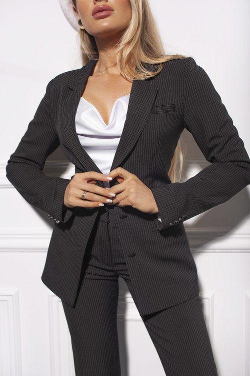 Jacket from a stripped suit (black)