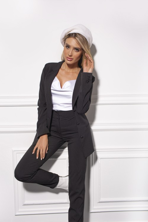 Pants from a stripped suit (black)