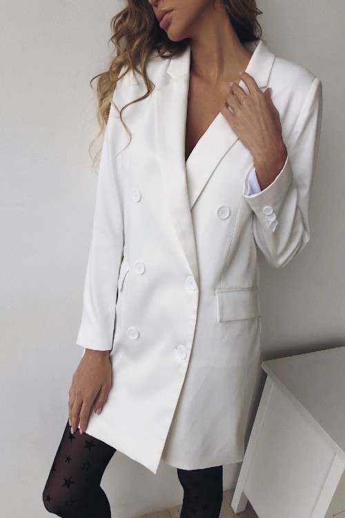 Jacket dress oversize (white)
