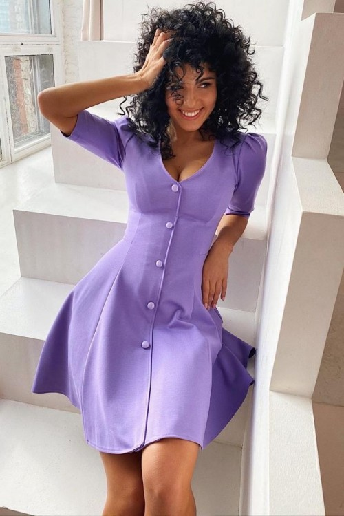 "Mini ""Paris"" dress (light purple)"