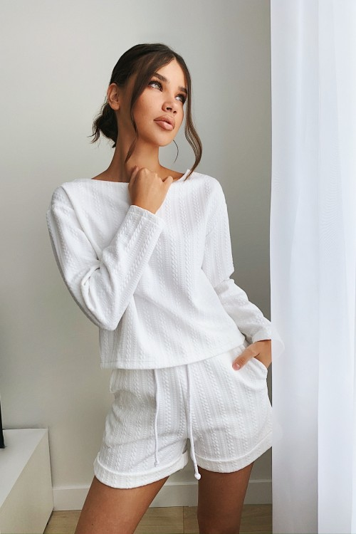 Textured sweatshirt (white)