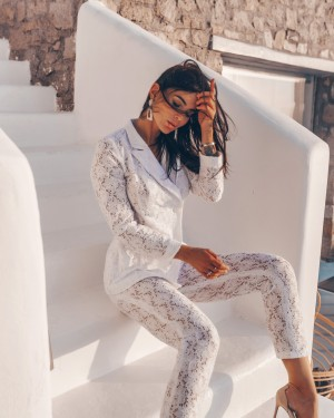 Lace pants (white)