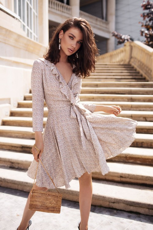 Staple mini dress (beige)