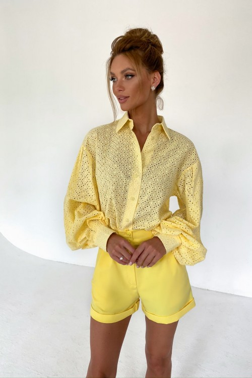 Sewing blouse (yellow)